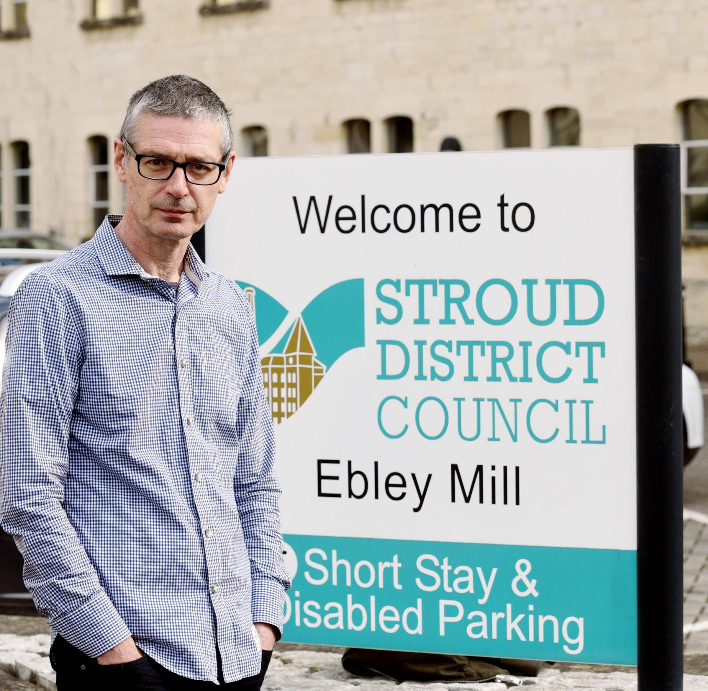 Simon Powell, owner of three shops in Stroud, is calling on SDC to reverse its decision to increase parking charges in Stroud, Stonehouse and Painswick. Picture by Simon Pizzey