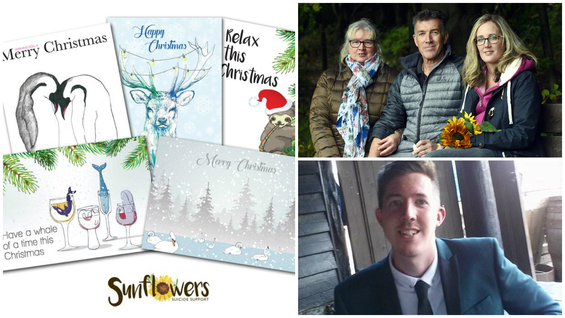Bereaved family of Stroud illustrator turn his artwork into Christmas cards