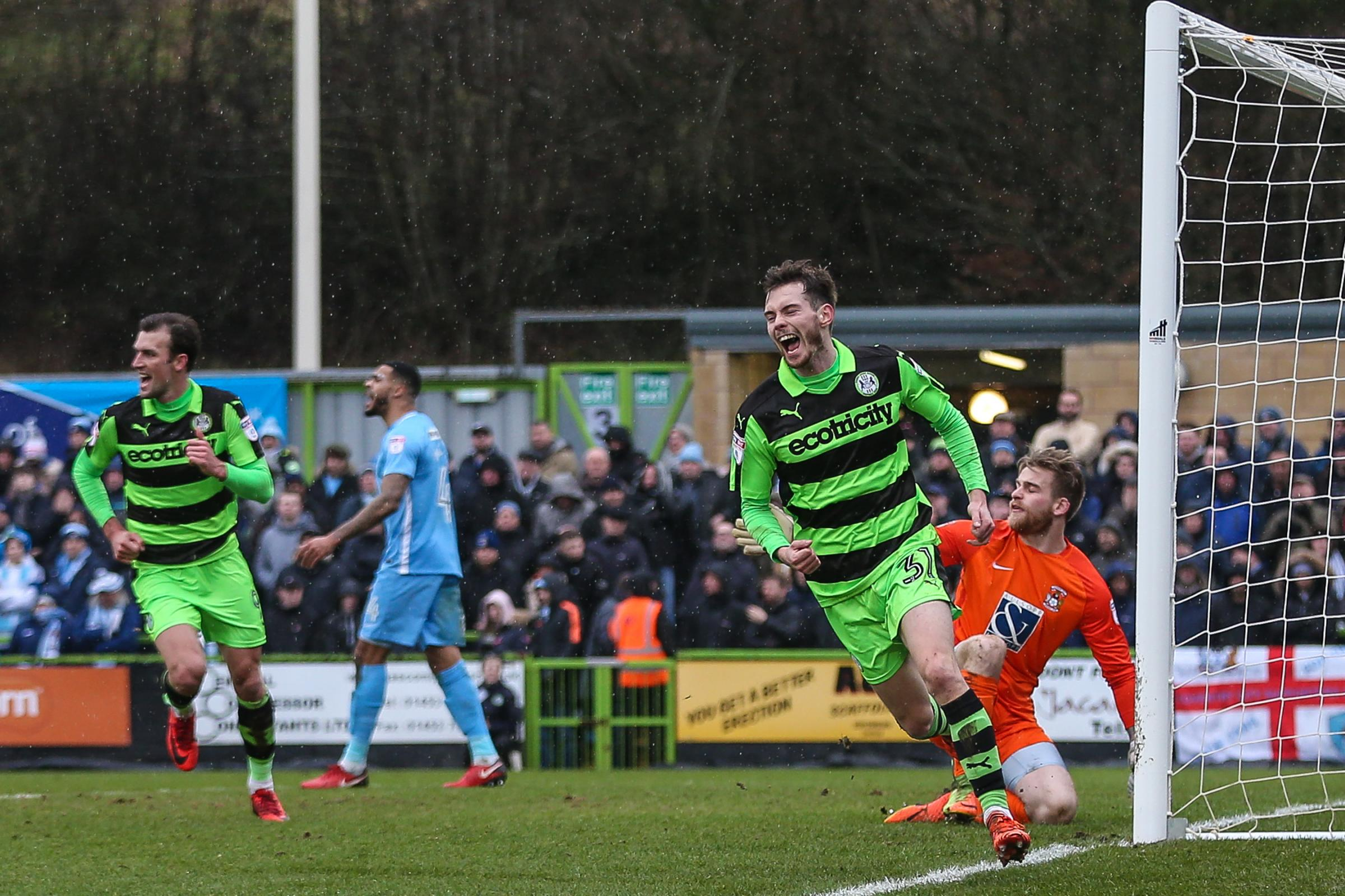 Alex Bray scores on his debut for Rovers                         Pic: Shane Healey/ Pro Sports Images