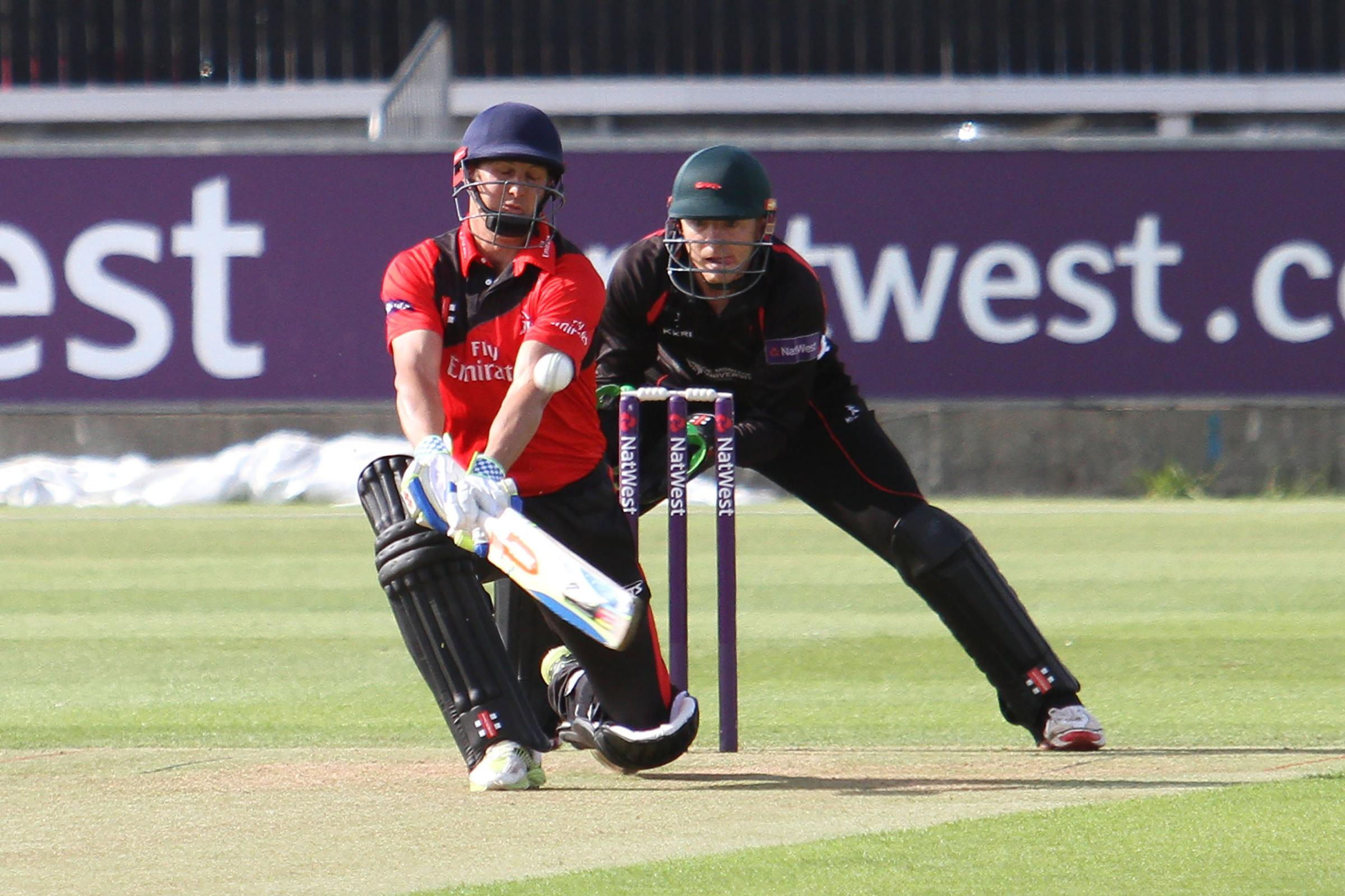 Phil Mustard of Durham Jets in batting action during  the NatWest T20 Blast Northern Division match between Durham Jets and Leicestershire Foxes at the Emirates Durham ICG on Friday 3rd July 2015