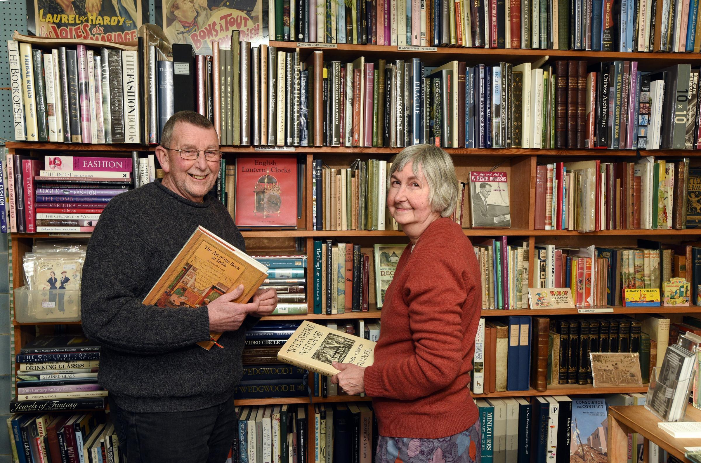 End of an era: Mike and Joy Goodenough call time on Inprint Books, in Stroud High Street, after 40 years. Picture: Simon Pizzey