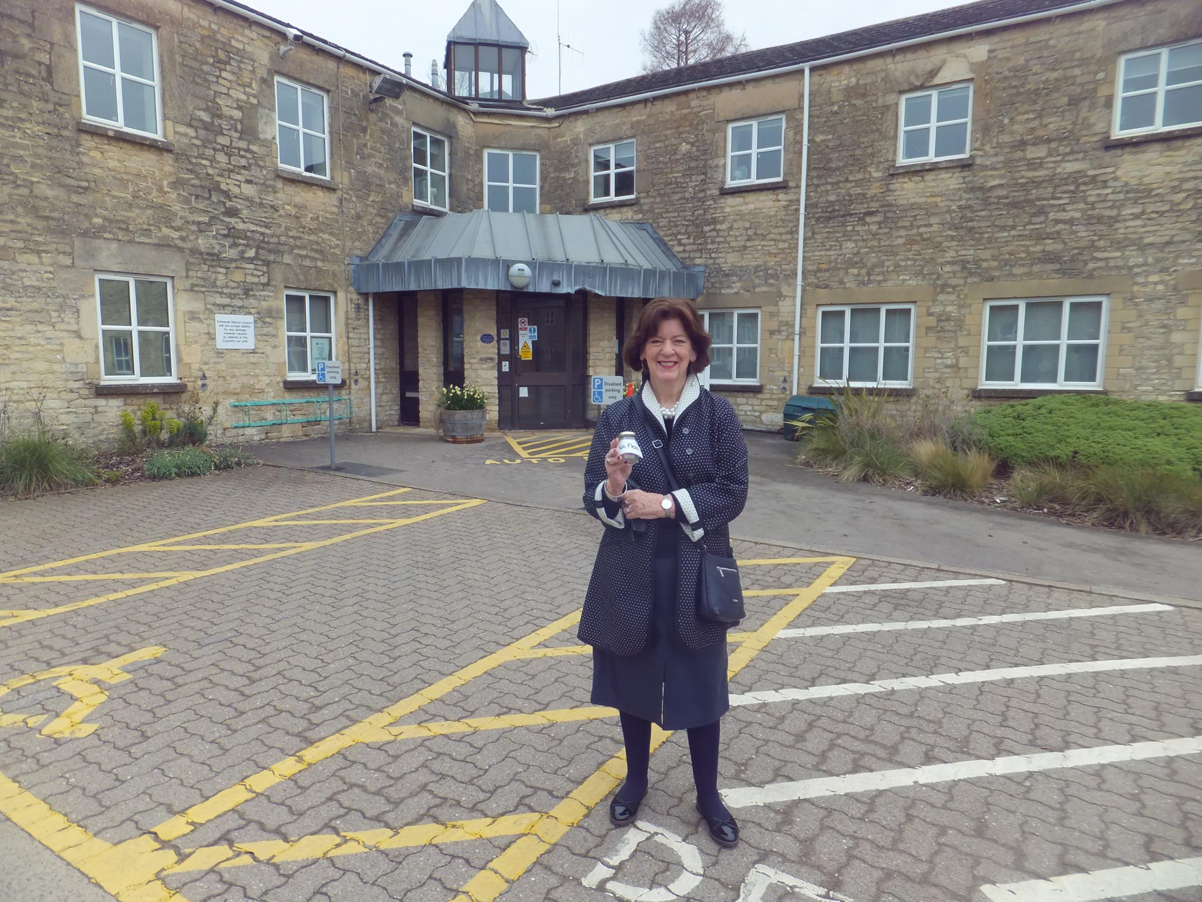 Lesley at the Cotswold District Council offices