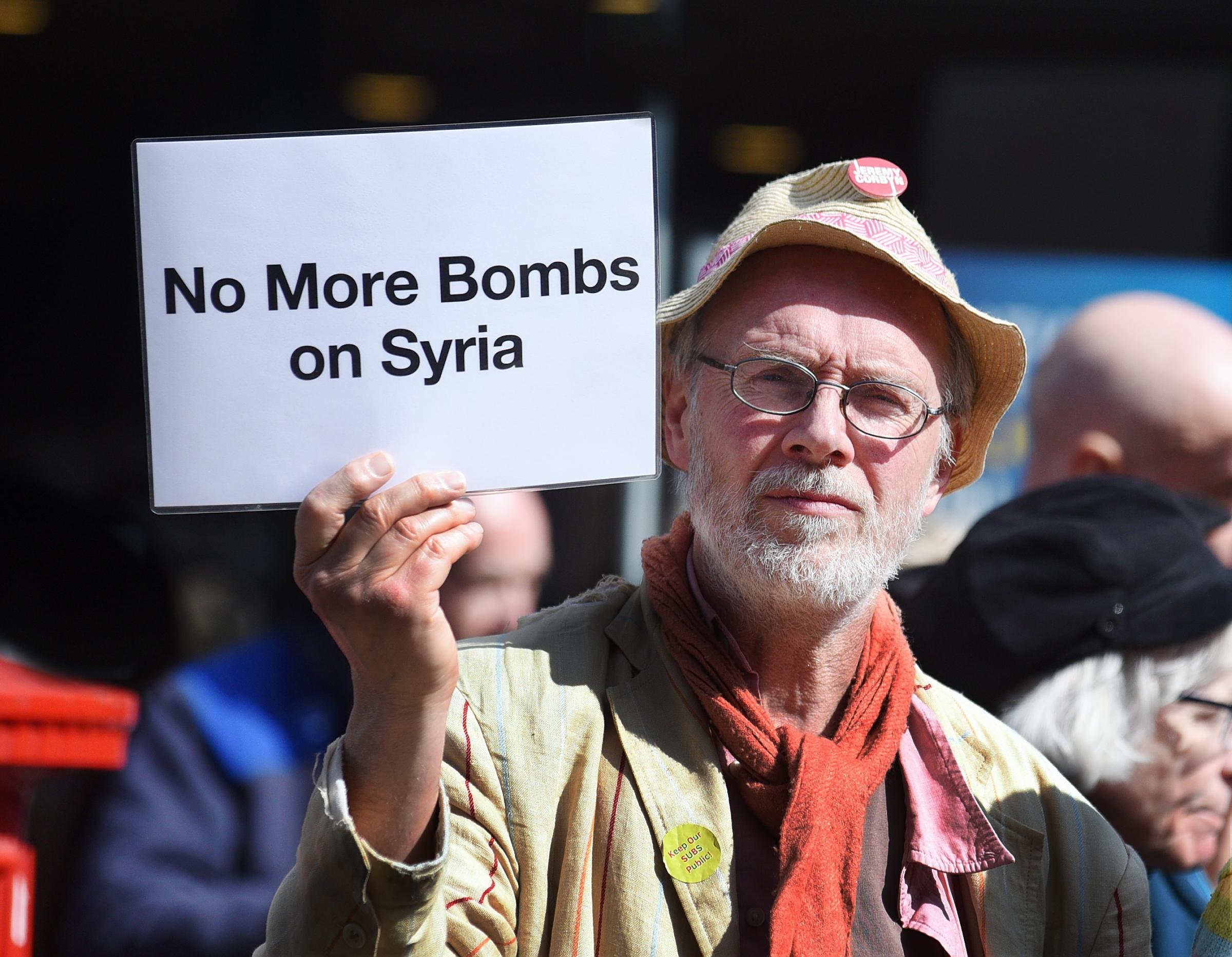 16 photos from Saturday's Stroud Syria vigil