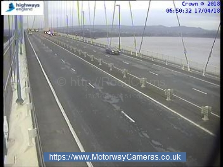 Speed restrictions are currently in place on the M48 Severn Bridge due to high winds