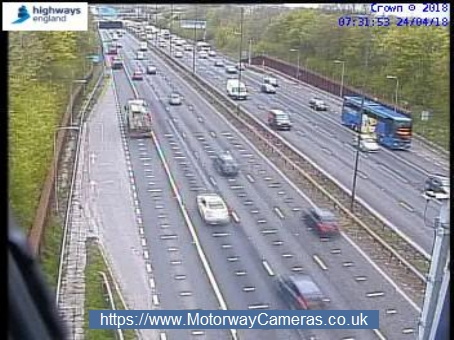 Debris has closed one lane of the M4 near junction 18 this morning