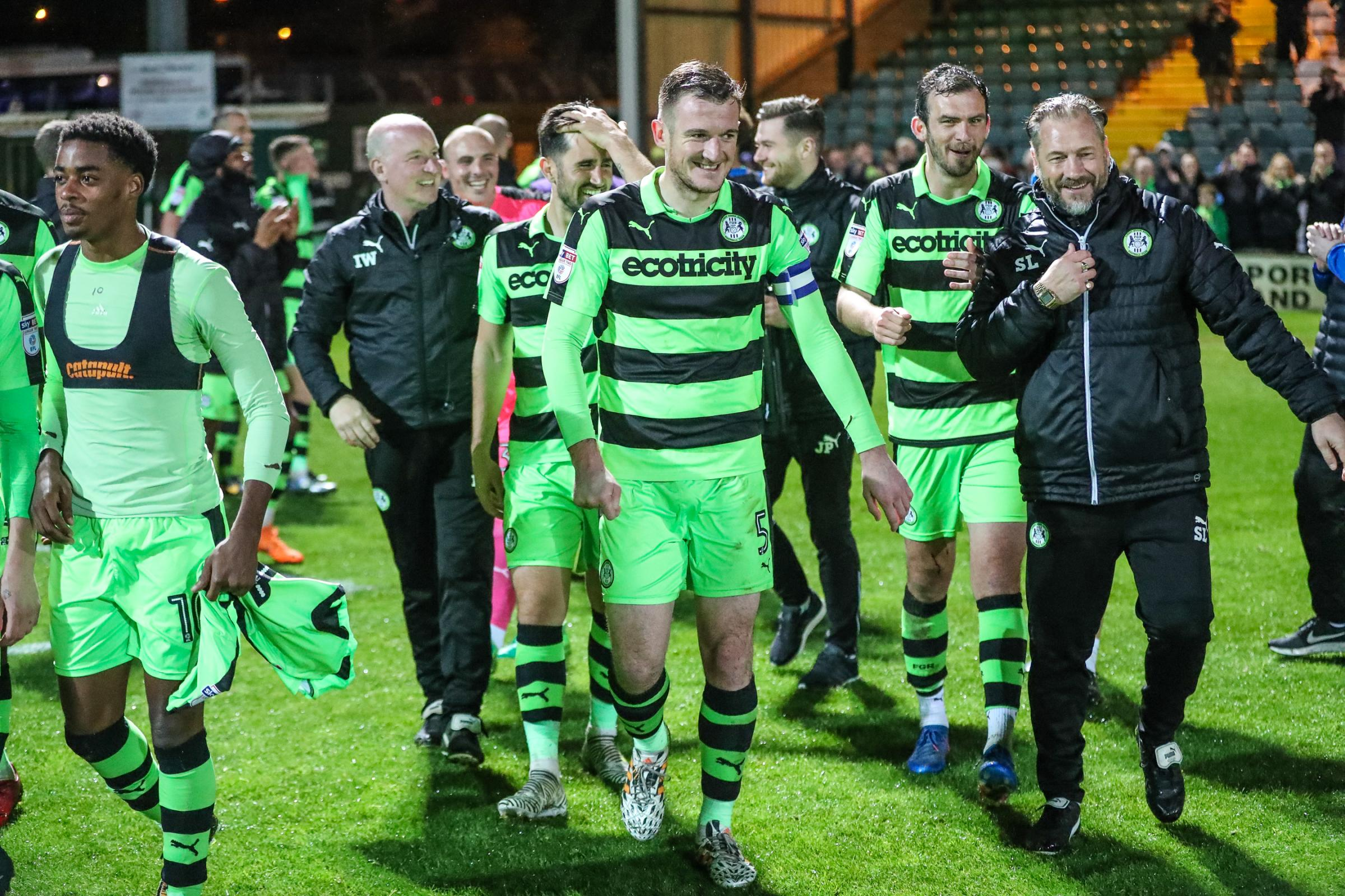 FGR celebrate survival    Pic: Shane Healey/ Pro Sports Images
