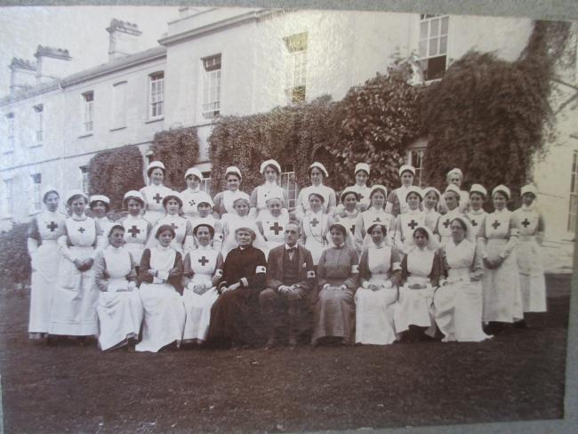 Nurses at Standish Red Cross Military Hospital during WW1