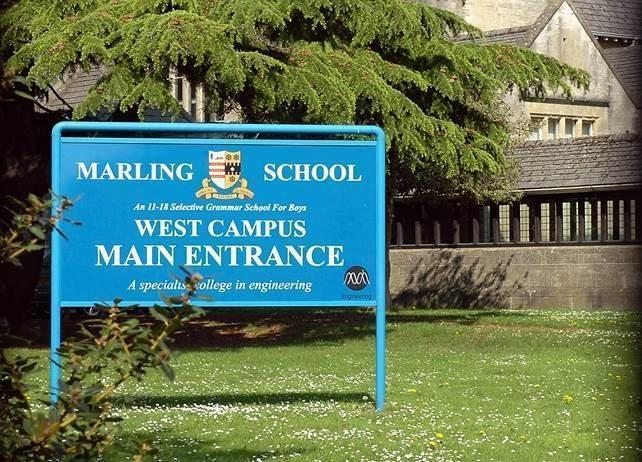 The main entrance at Marling School in Stroud