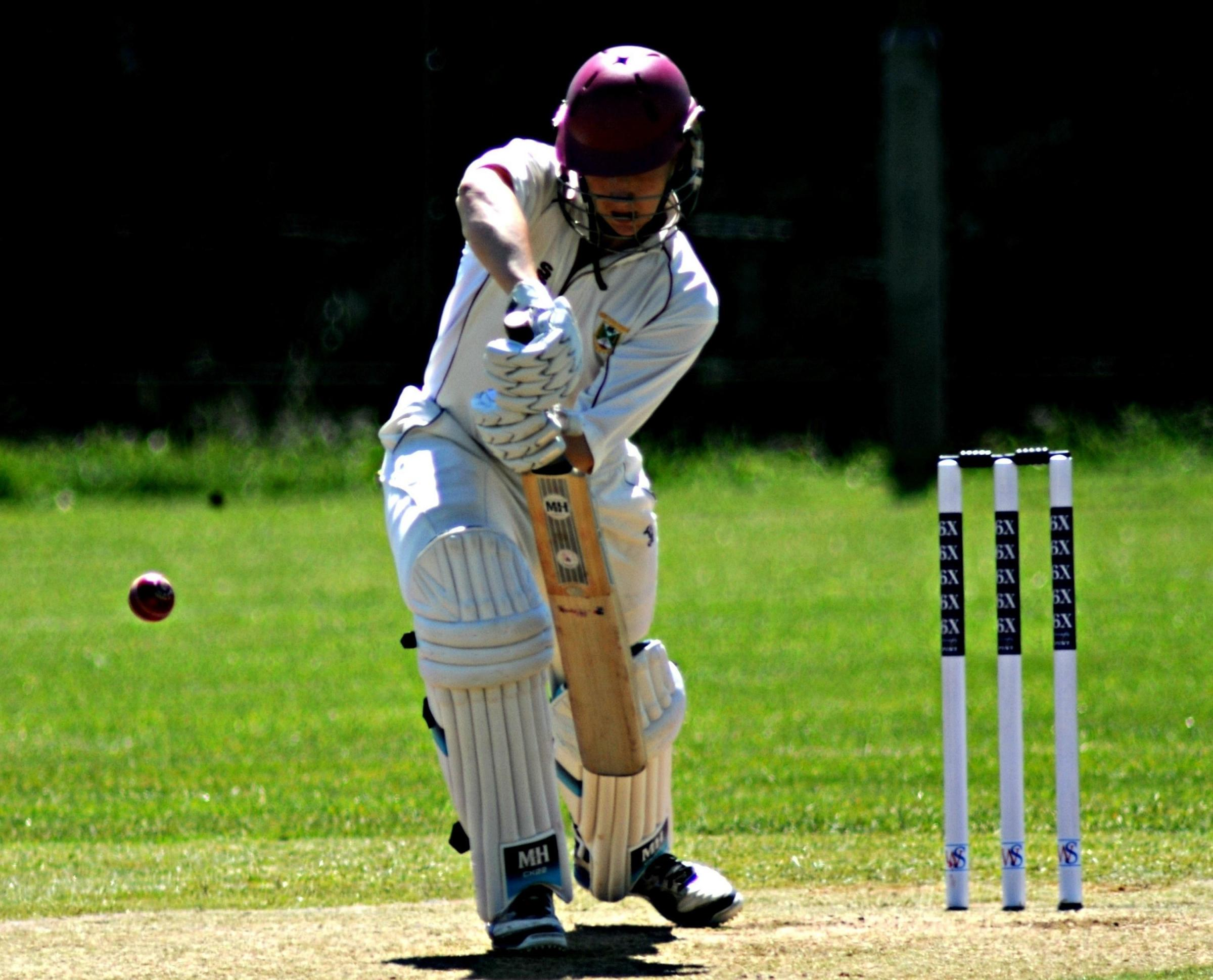 James Bracey batting for Winterbourne against Shirehampton