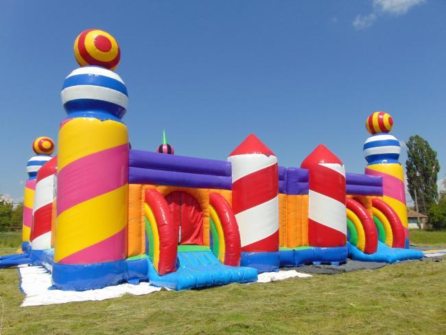 Stock photo of a bouncy castle