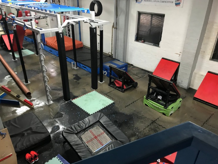 Ninja warrior's Chalford gym flooded