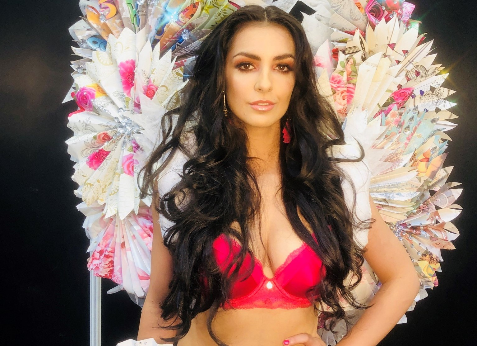 Amy Smith at the Victoria's Secret themed fashion and hair competition