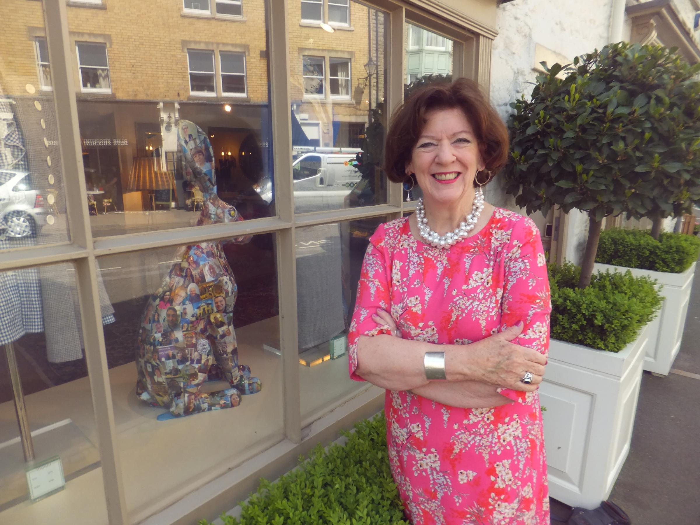 Lesley Brain with Tetters the Tetbury hare