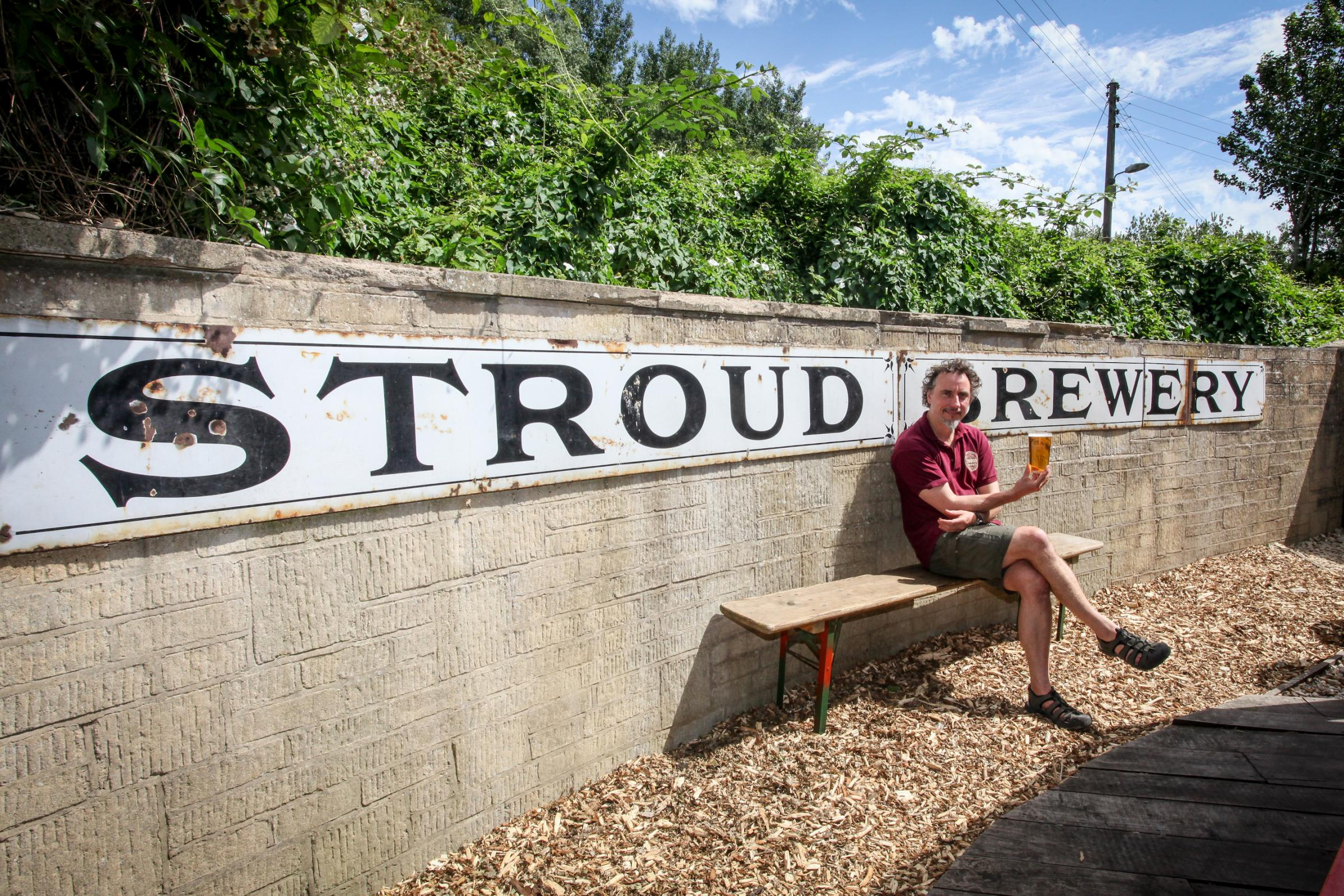 Greg Pilley of Stroud Brewery who is hoping to raise the money to support the growth of the business