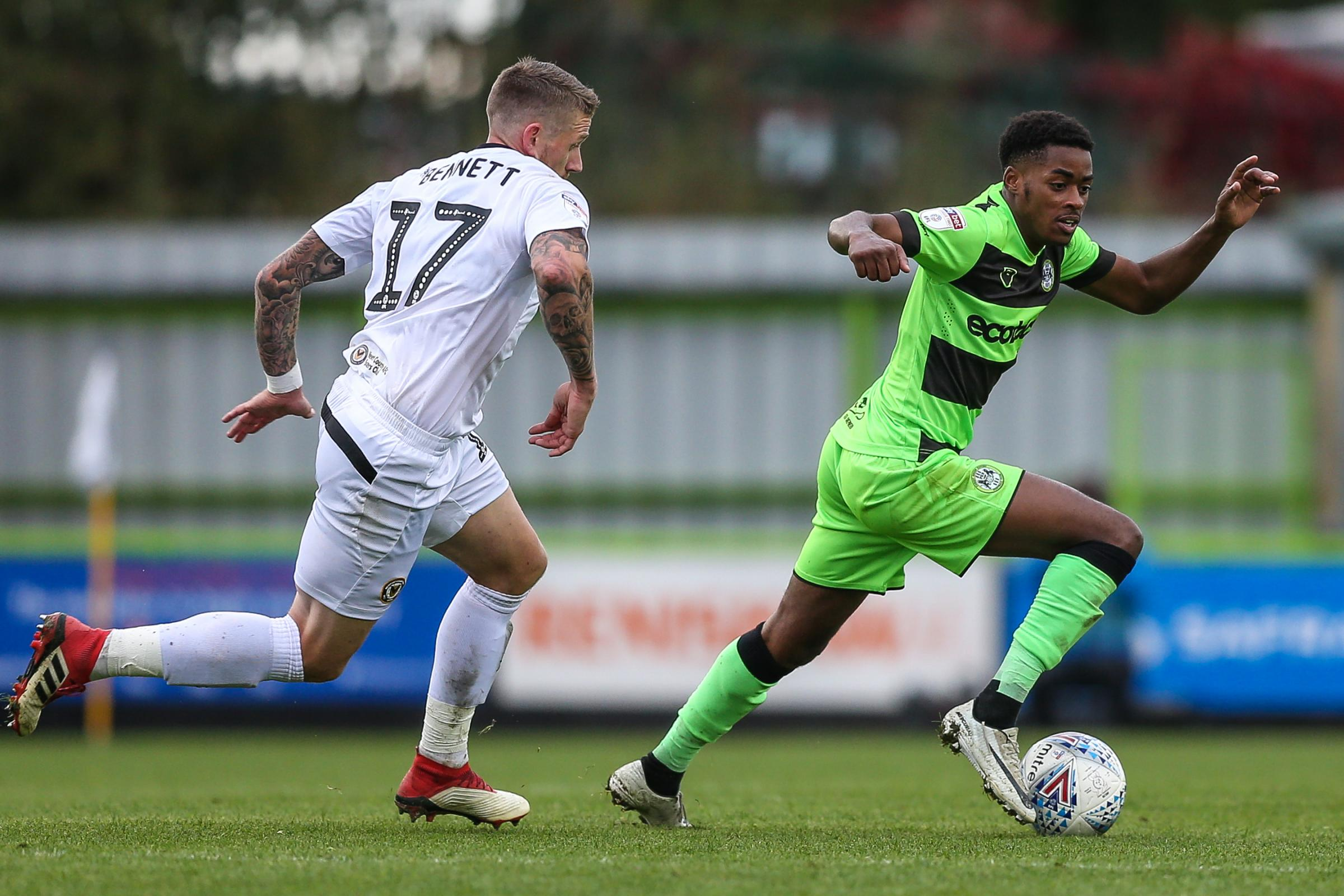 Forest Green Rovers Reece Brown(10) on the ball during the EFL Sky Bet League 2 match between Forest Green Rovers and Newport County at the New Lawn, Forest Green, United Kingdom on 6 October 2018.