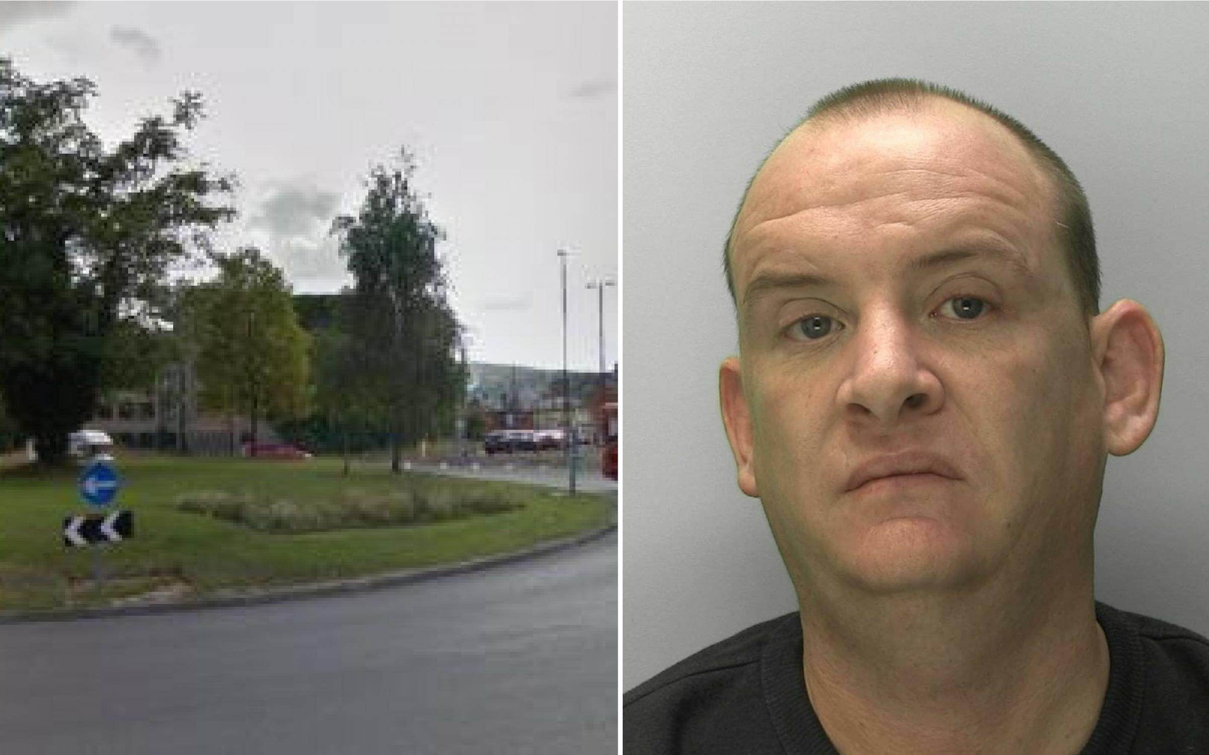 Mark Bainbridge has been jailed for 52 months after being found with £25,000 worth of drugs when police stopped him on Cainscross roundabout in September