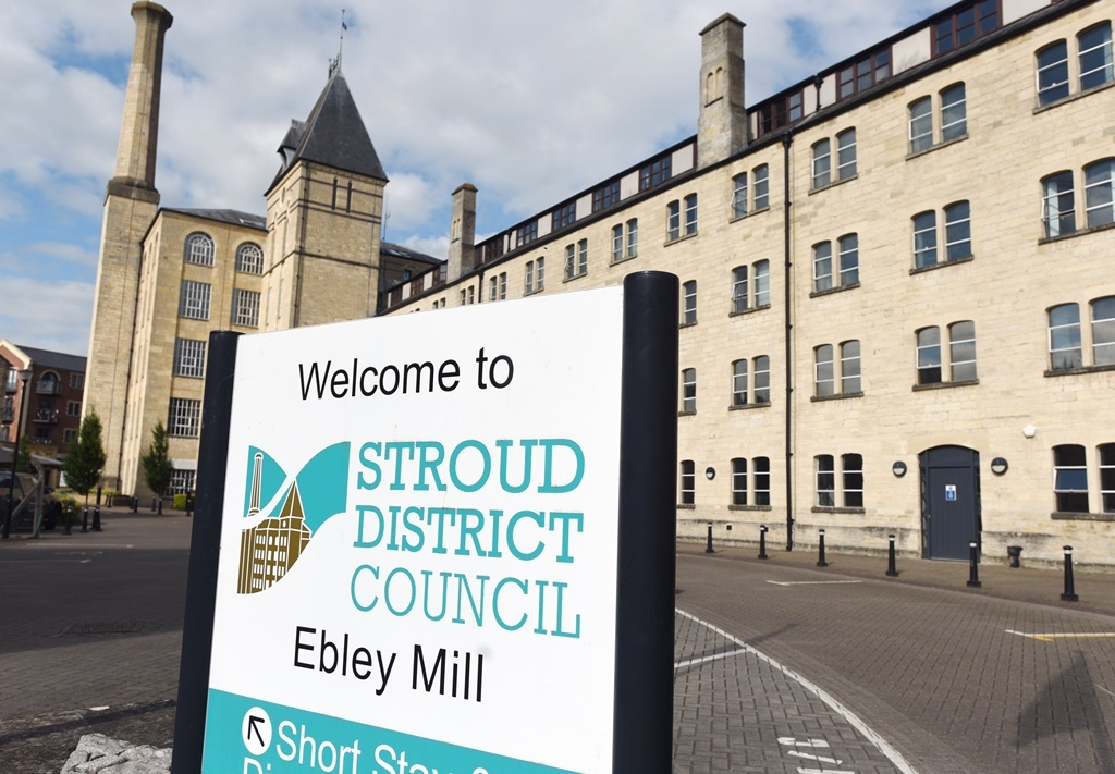 The Stroud District Council building outside Ebley Mill. Picture: Simon Pizzey