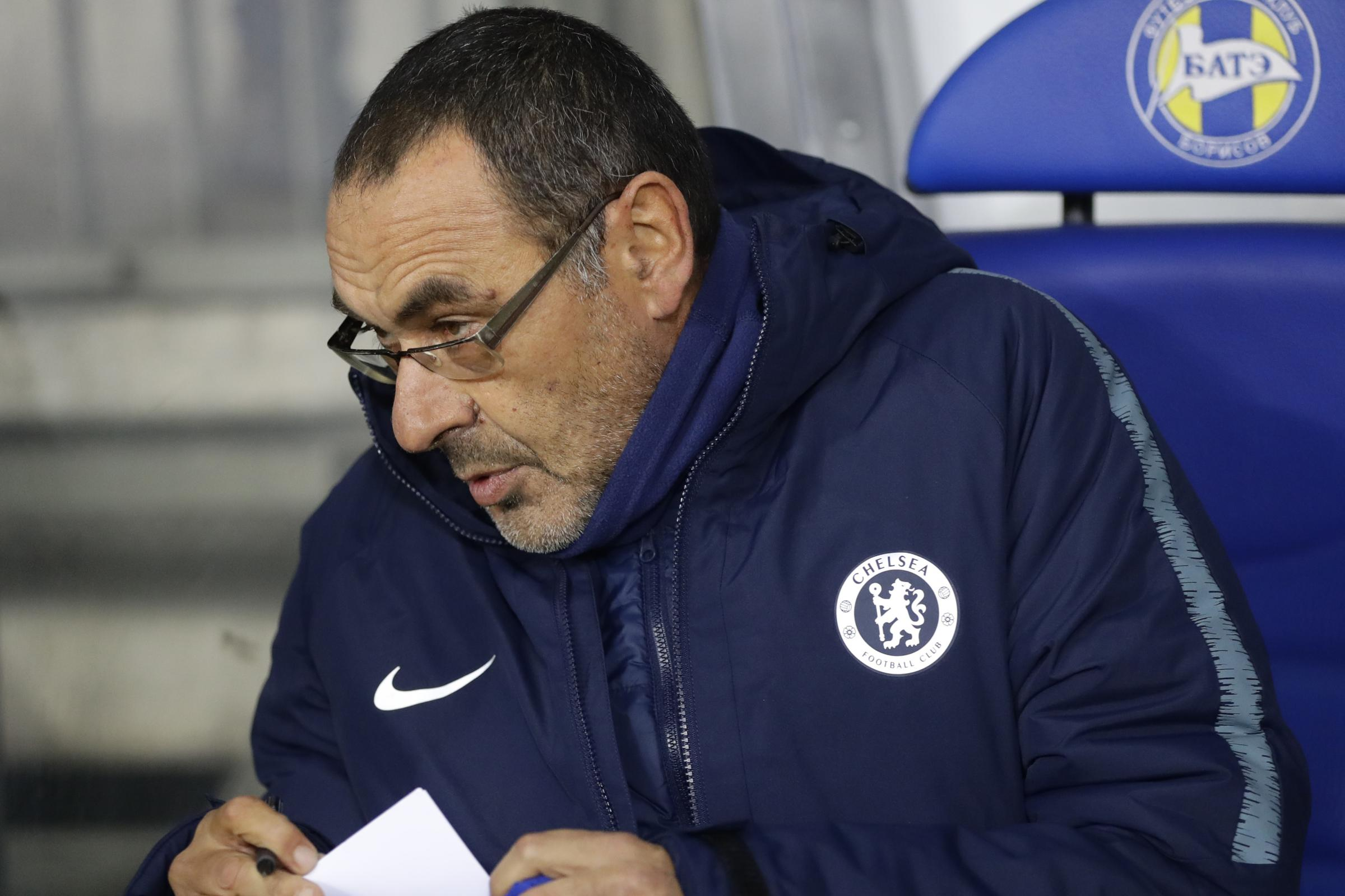 Maurizio Sarri was battling a fever in Belarus