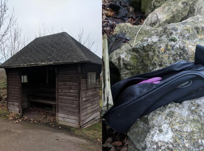 Farmer finds adult toy behind bus stop outside Stroud