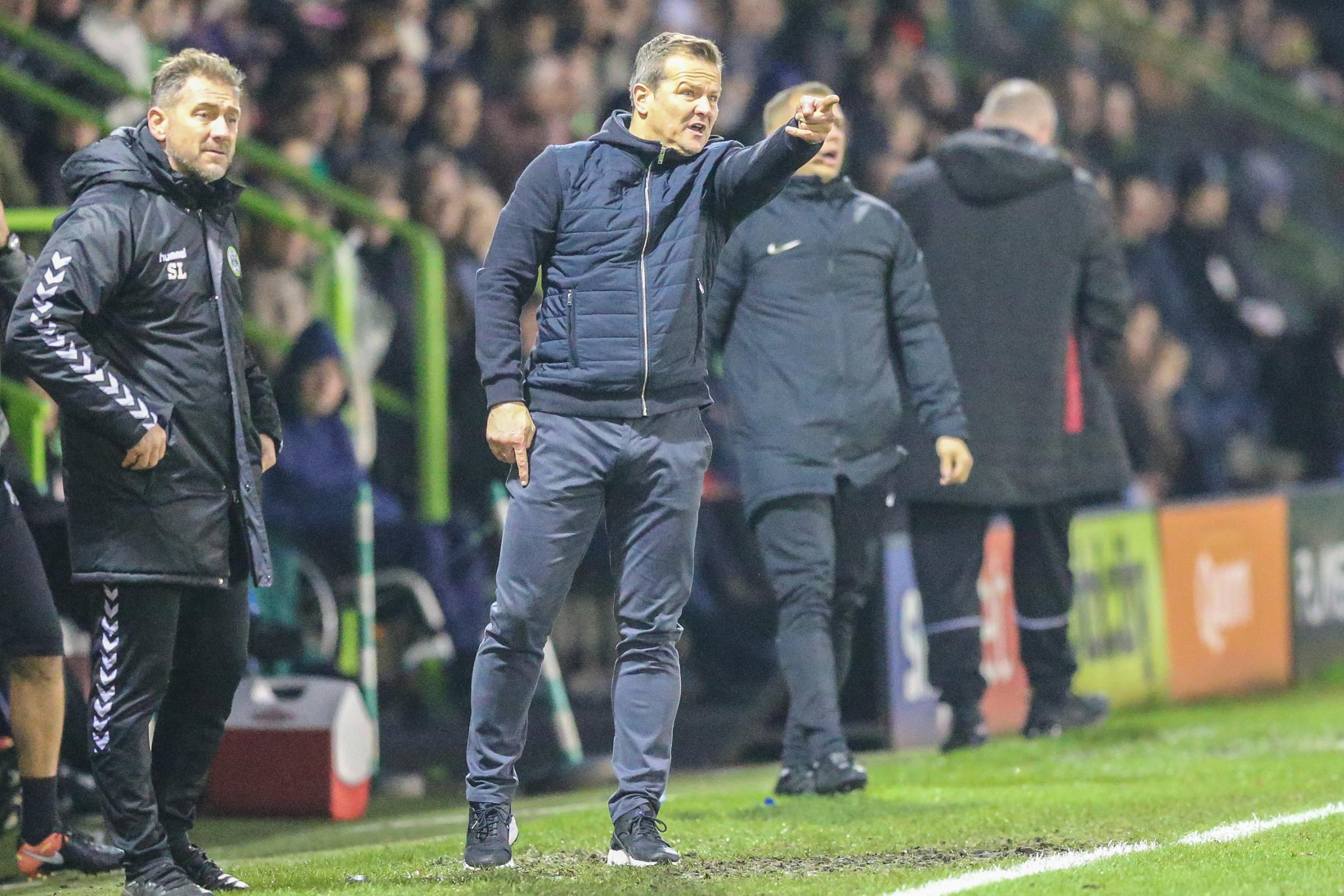 Forest Green manager Mark Cooper. Picture: Shane Healey/Pro Sports Images
