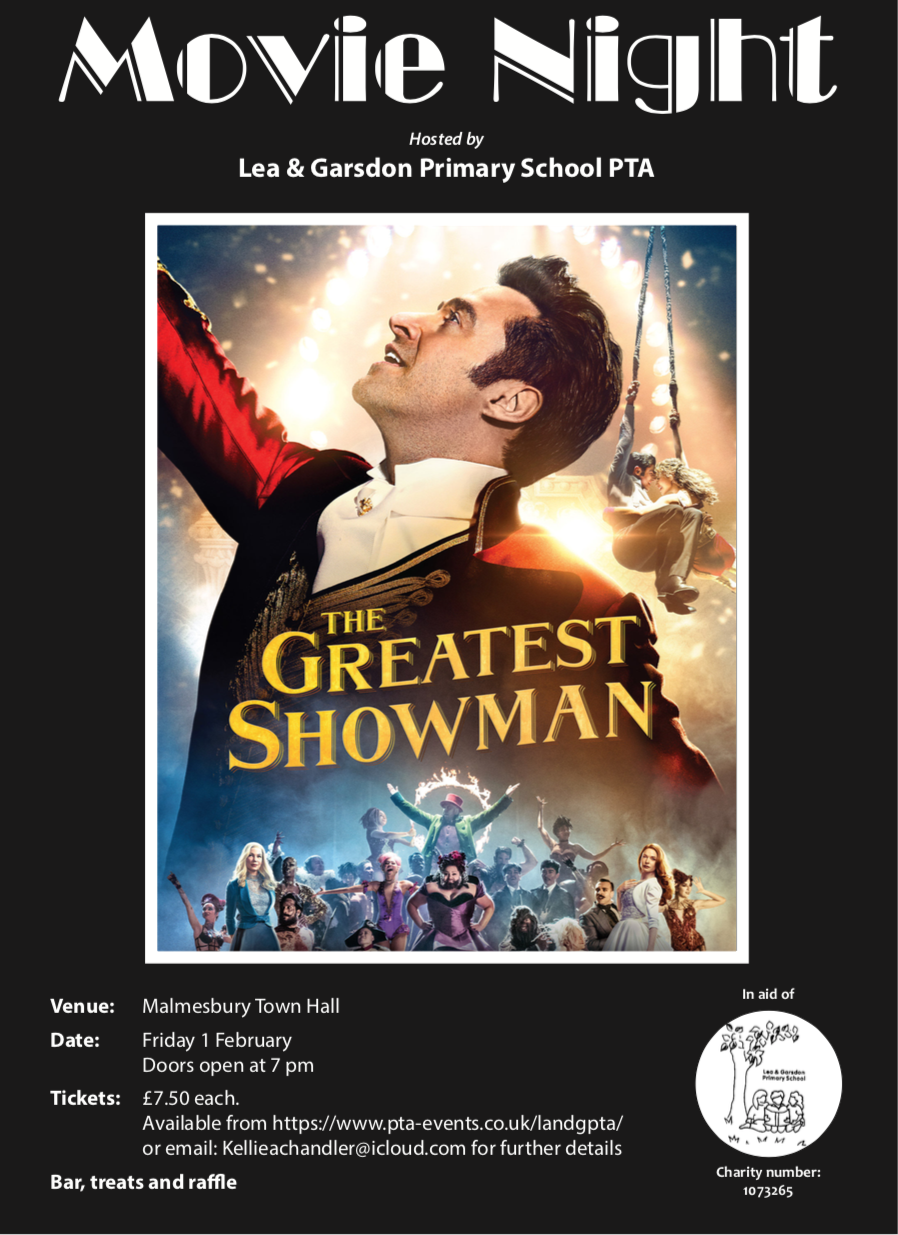 PTA Charity Movie Night - The Greatest Showman