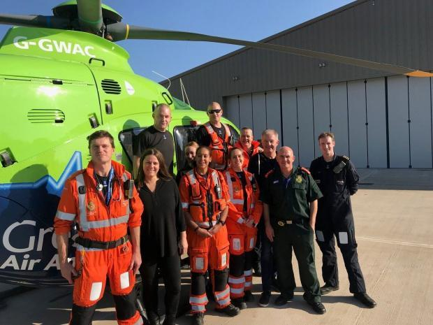 The team at GWAAC that have now moved in to their new air base in Almondsbury