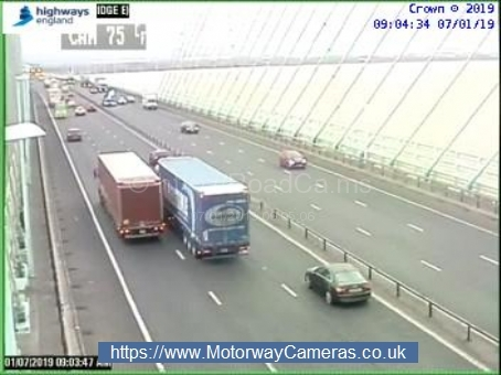 There has been a crash on the M4