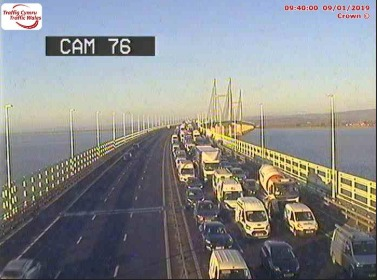 There has been a multi-vehicle crash on the Prince of Wales bridge
