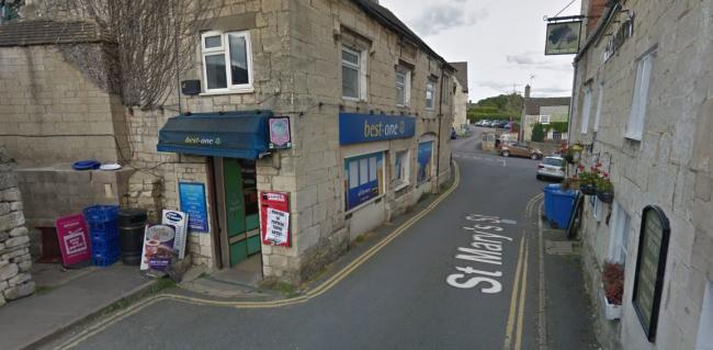 Saint Mary's Street in Painswick is undergoing roadworks (C) Google Maps