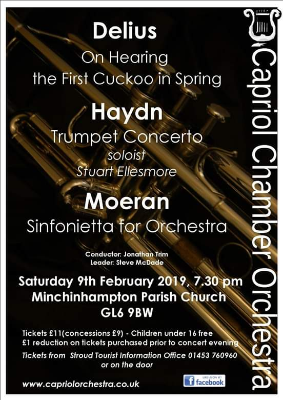 Capriol Chamber Orchestra February Concert