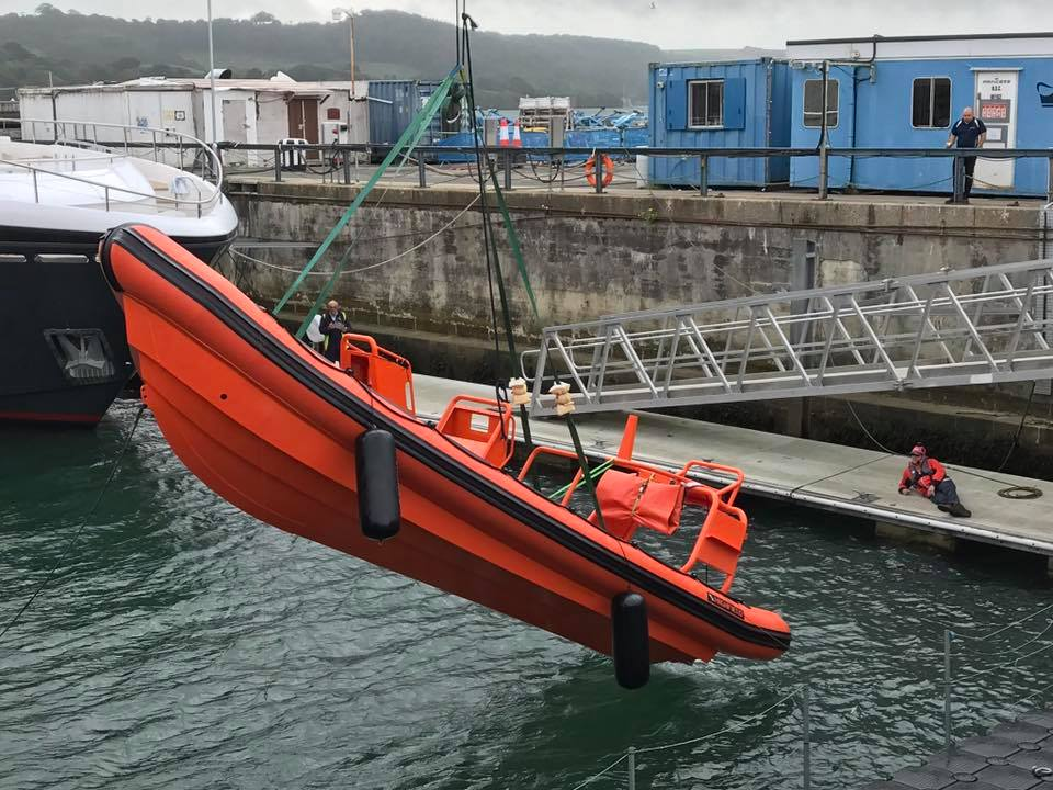 Sharpness' new lifeboat tested ahead of launch