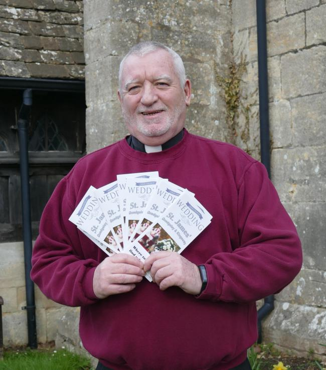 Local Rector Revd. Canon Fr. John Ward is hoping to encourage more couples to 'tie the knot' in the local parish church at Quedgeley