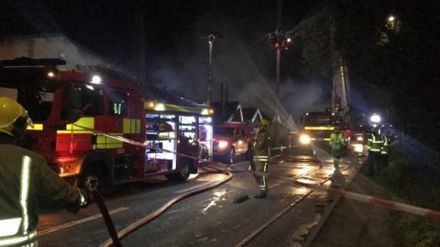 The busy A419 road has reopened following a fire in Thrupp last night