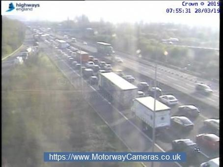 There are delays of up to 45 minutes on the M5 this morning