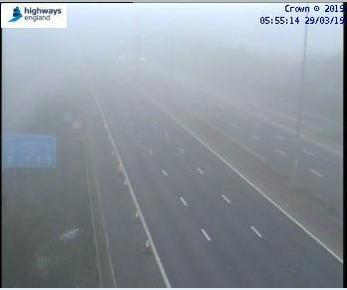 Heavy patches of fog are being reported on some areas of the M5 and M4 today
