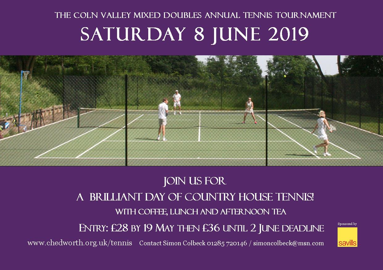 The 2019 Coln Valley Mixed Doubles Annual Tennis Tournament