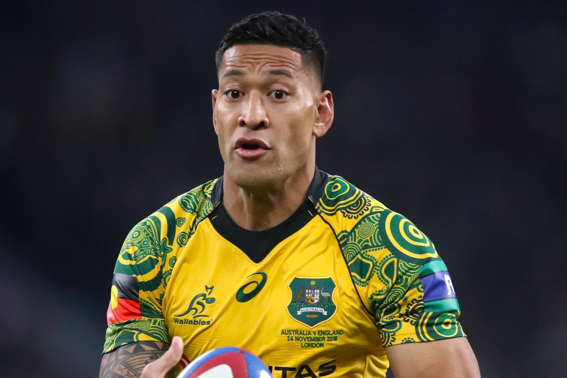 Israel Folau has been found in breach of the Rugby Australia code of conduct
