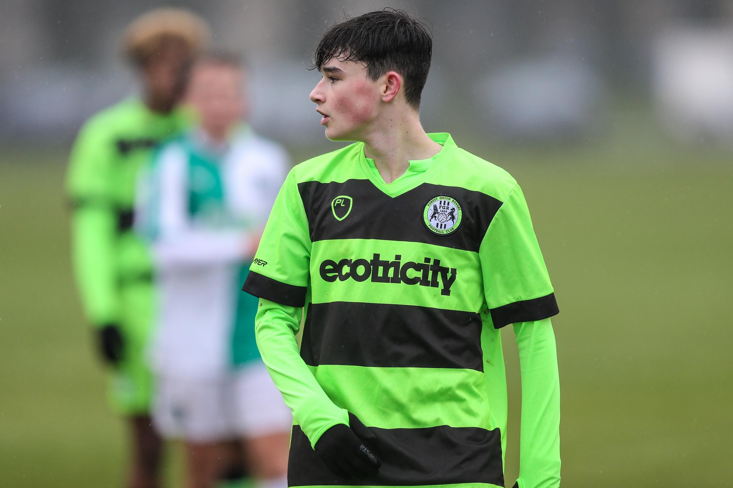 Forest Green Rovers Daniel Jones(11) FGR_Academy_v_Plymouth 19/1/19