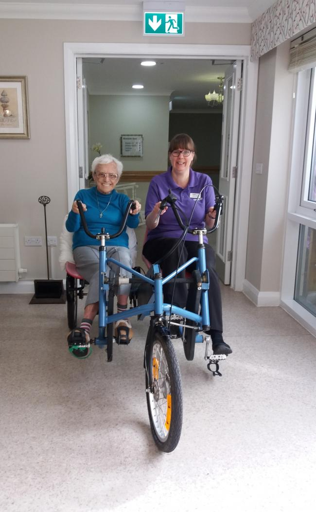 88-year-old Dorothy Robinson enjoying her return to cycling after 64 years
