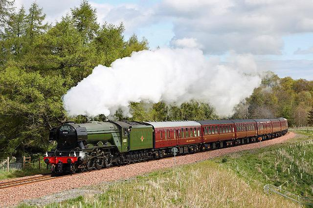 The famous Flying Scotsman train. Picture: Walter Baxter
